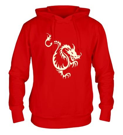 Толстовка с капюшоном Китайский водяной дракон свет