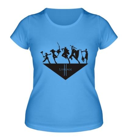 Женская футболка Lineage class