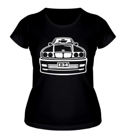 Женская футболка BMW E34 Tuning