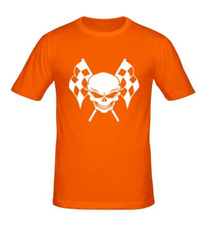 Мужская футболка Череп гонщика