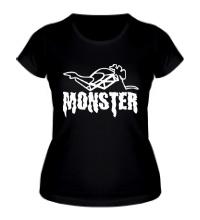 Женская футболка Moto Monster