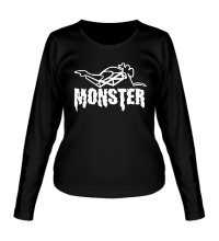 Женский лонгслив Moto Monster
