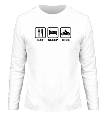 Мужской лонгслив Eat Sleep Ride