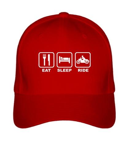 Бейсболка Eat Sleep Ride