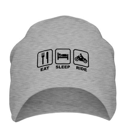Шапка Eat Sleep Ride