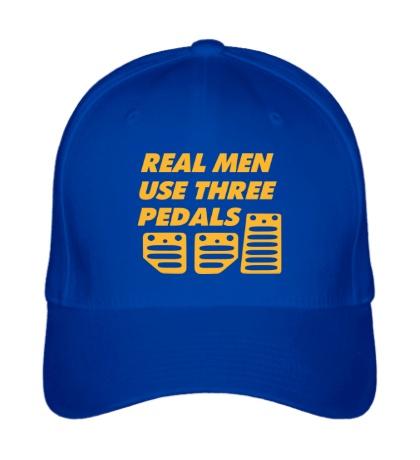 Бейсболка Real man use three pedals