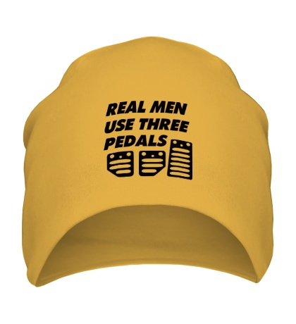 Шапка Real man use three pedals