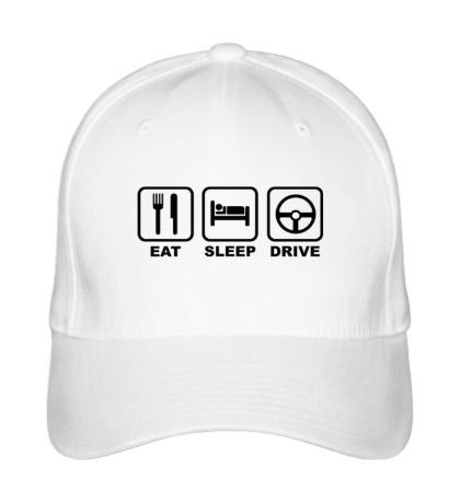 Бейсболка Eat sleep drive