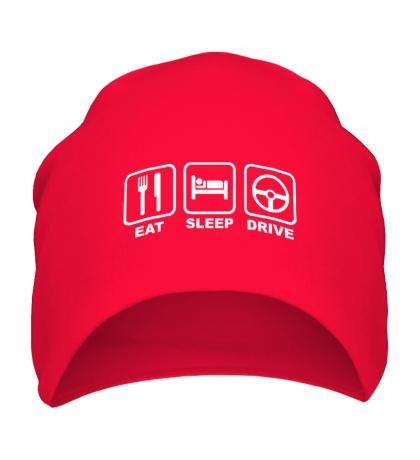 Шапка Eat sleep drive