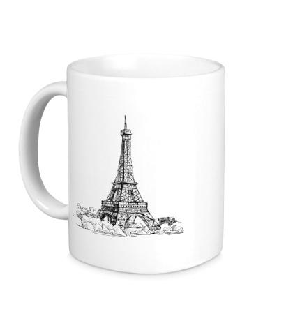 Керамическая кружка Эйфелева башня