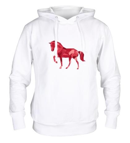 Толстовка с капюшоном Абстрактный конь