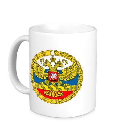Керамическая кружка Герб ВС РФ