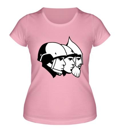 Женская футболка Помни предков своих