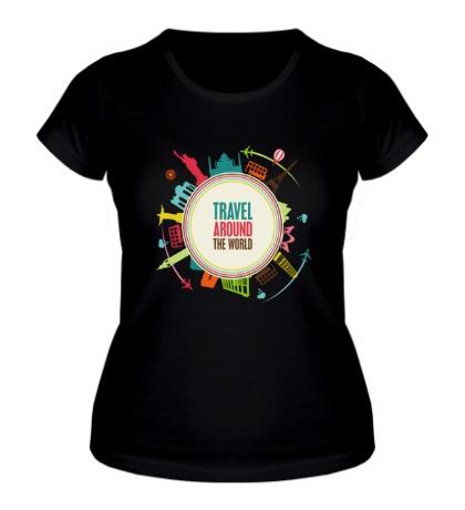 Женская футболка Путешествуй по миру