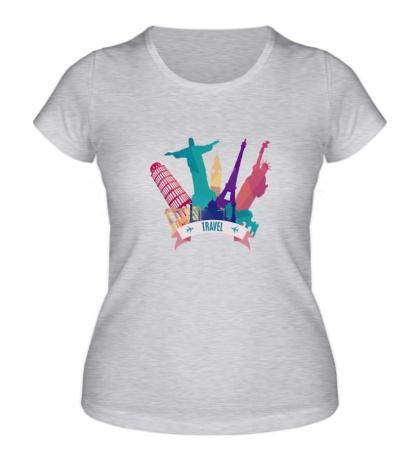 Женская футболка Путешествуй
