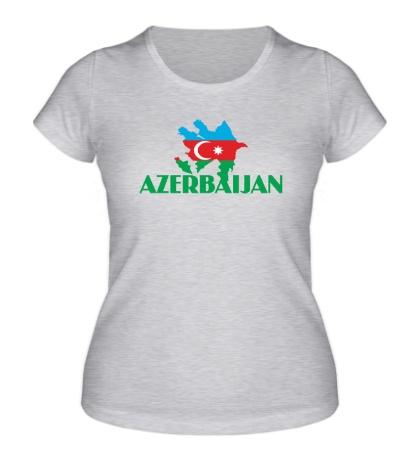 Женская футболка Azerbaijan