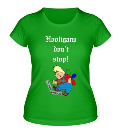 Женская футболка Карлсон хулиган
