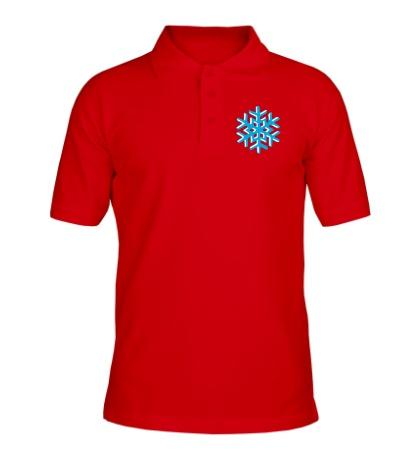 Рубашка поло Объемная снежинка
