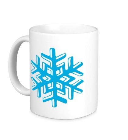 Керамическая кружка Объемная снежинка