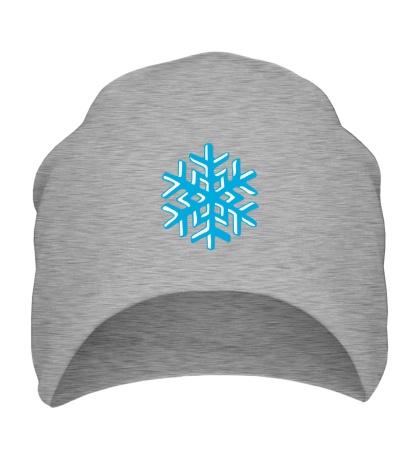 Шапка Объемная снежинка