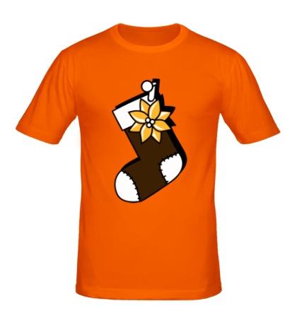 Мужская футболка Носок для подарков
