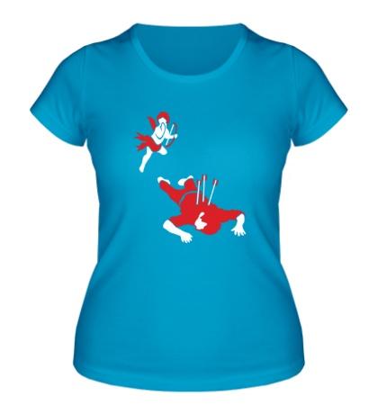 Женская футболка Агрессивный амур