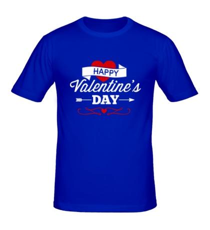 Мужская футболка Happy Valentines Day