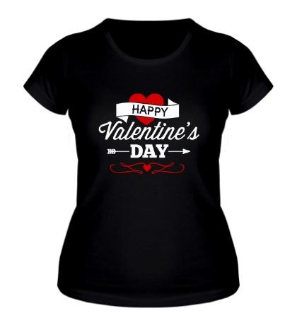 Женская футболка Happy Valentines Day