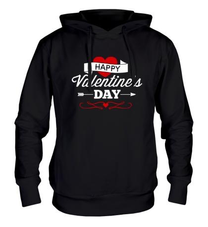 Толстовка с капюшоном Happy Valentines Day