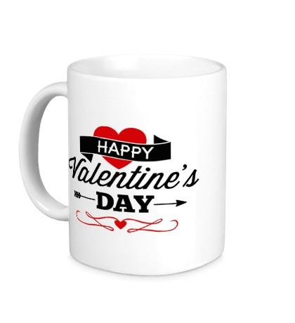 Керамическая кружка Happy Valentines Day