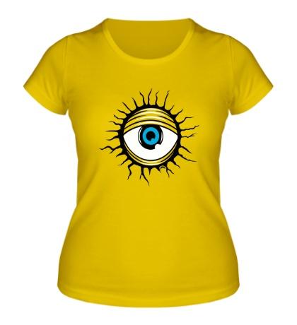 Женская футболка Демонический глаз