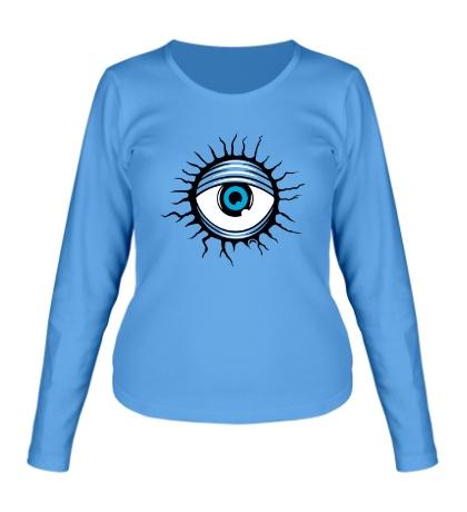 Женский лонгслив Демонический глаз