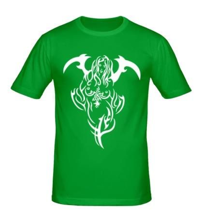 Мужская футболка Девушка демон