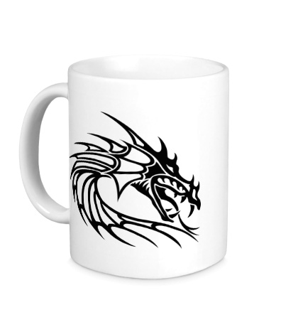Керамическая кружка Голова тату-дракона