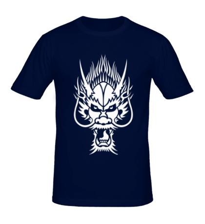 Мужская футболка Голова китайского дракона