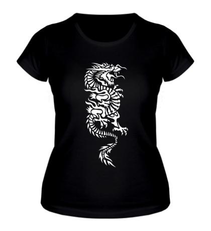 Женская футболка Японский дракон