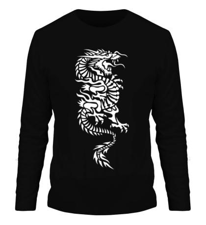 Мужской лонгслив Японский дракон