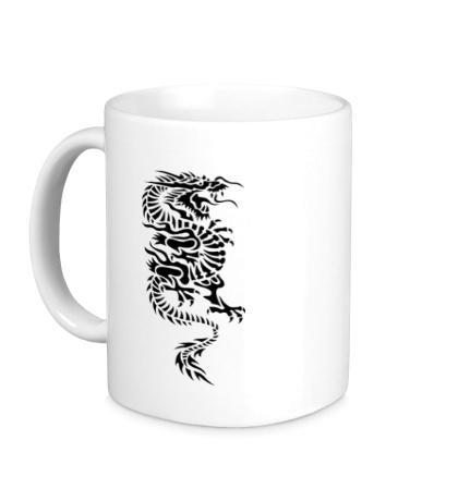 Керамическая кружка Японский дракон