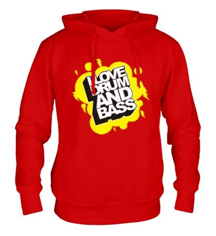 Толстовка с капюшоном I Love Drum and Bass