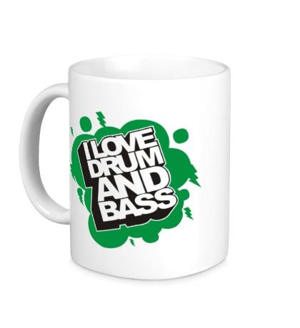 Керамическая кружка I Love Drum and Bass