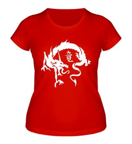 Женская футболка Дракон в японском стиле