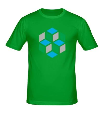 Мужская футболка Кубики