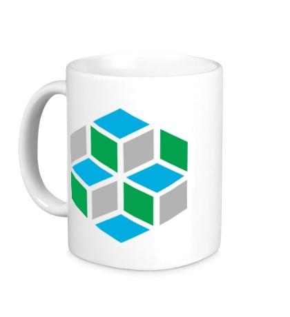 Керамическая кружка Кубики