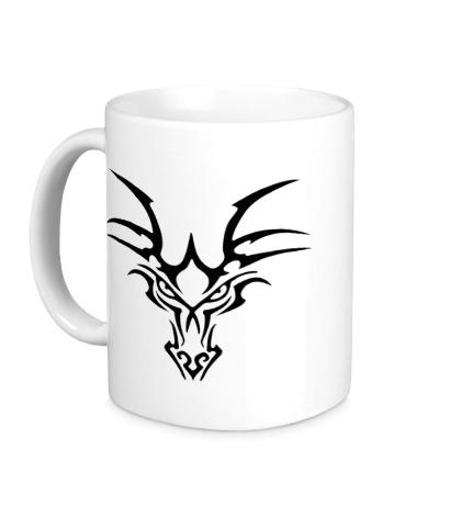 Керамическая кружка Взгляд тату-дракона