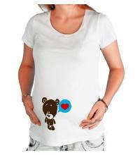 Футболка для беременной Влюбленный мишка