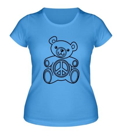 Женская футболка Мишка плюшевый