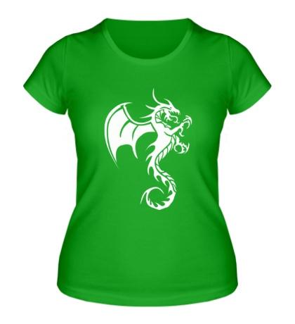 Женская футболка Крылатый дракон
