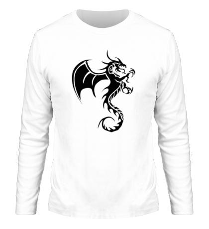 Мужской лонгслив Крылатый дракон