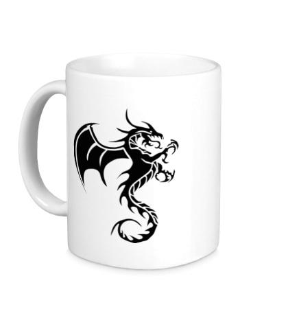 Керамическая кружка Крылатый дракон