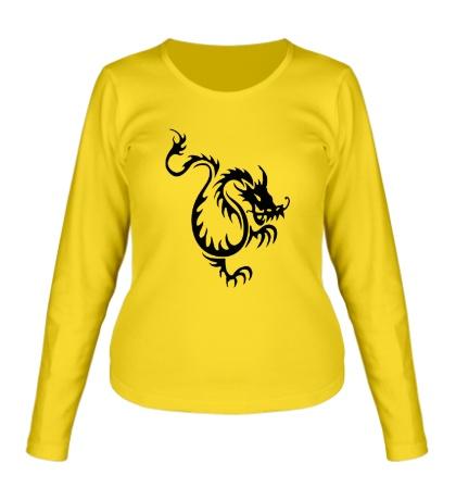 Женский лонгслив Китайский водяной дракон